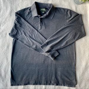 Eddie Bauer Men's Field Pro Long-Sleeve Polo Shirt